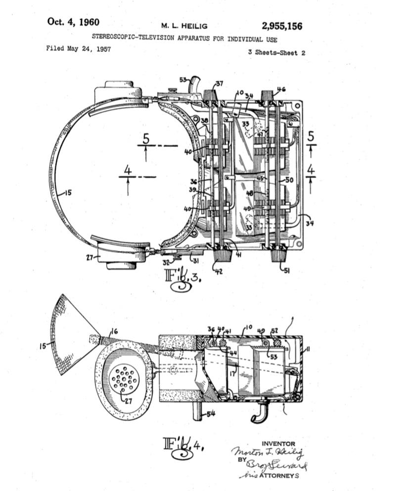 Heilig VR headset patent filing
